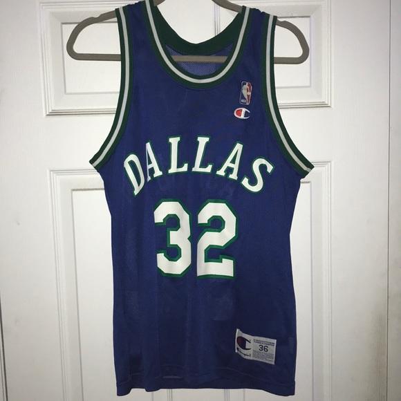 new product 70add b1529 Vintage Jamal Mashburn Dallas Mavericks Jersey #32